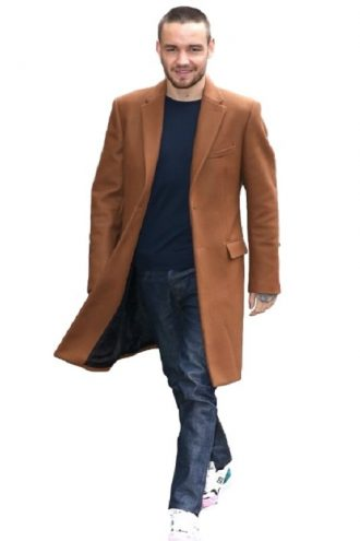 Liam Payne Street Fashion Trench Brown Coat