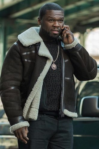 Mens 50 Cent Power Fur Jacket