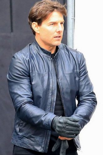 Tom Cruise Blue Leather Jacket