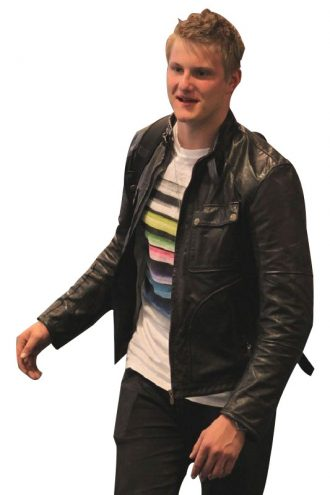Alexander Ludwig Black Leather Jacket