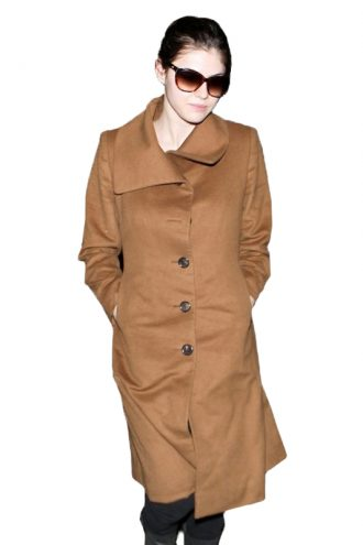 Alexandra-Daddario-Brown-Wool