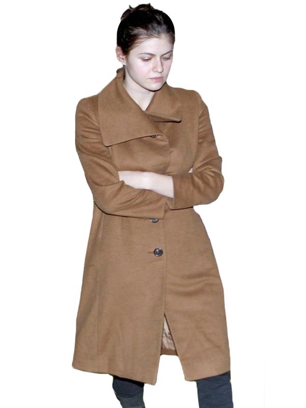 Alexandra-Daddario-Brown-Wool