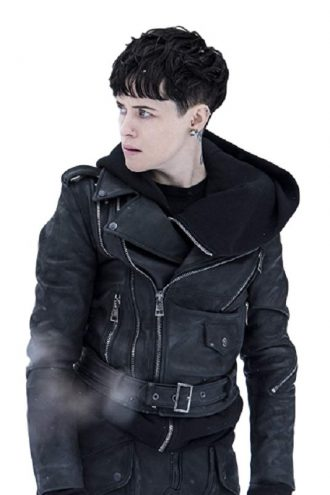 Claire Foy The Girl In The Spider Web Biker Jacket