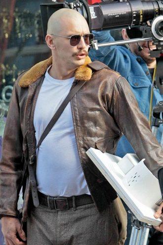 Zeroville James Franco Brown Fur Leather Jacket