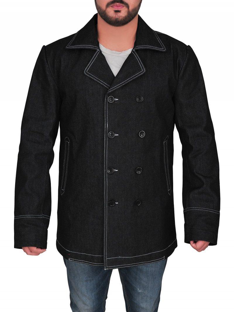 Killing Eve Kim Bodnia Double Breasted Black Coat