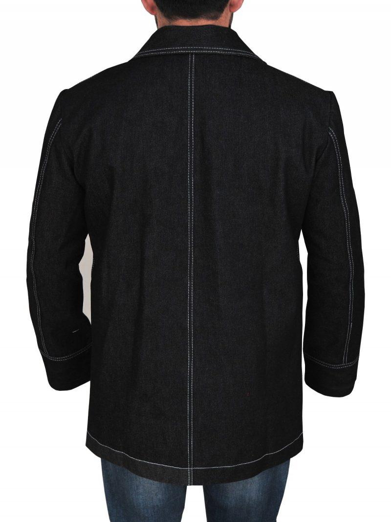 Kim Bodnia Killing Eve Double Breasted Black Coat