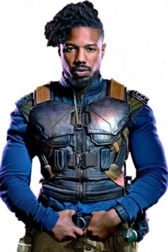 Decrum Black Panther Erik Killmonger Cosplay Vest