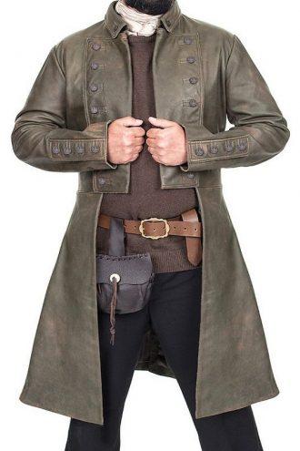 Outlander Jamie Fraser Leather Coat
