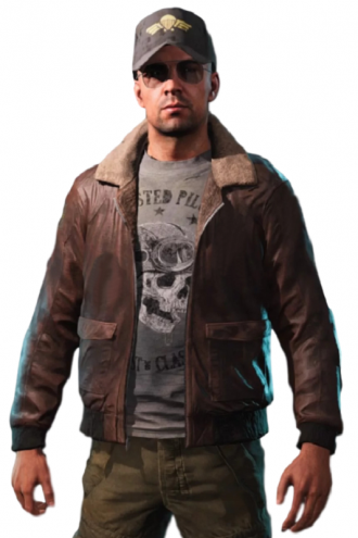 Far Cry 5 Aviator Leather Outfit Costume