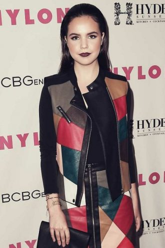 Bailee Madison NYLON Young Hollywood Party Multi Color Vest