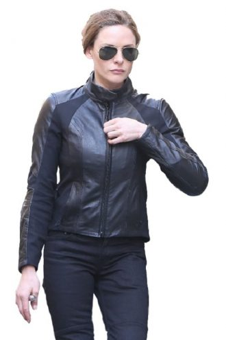 Mission Impossible 6 Ilsa Faust Motorcycle Black Leather Jacket