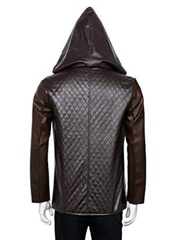 Robin Hood Taron Egerton Quilted Leather Jacket