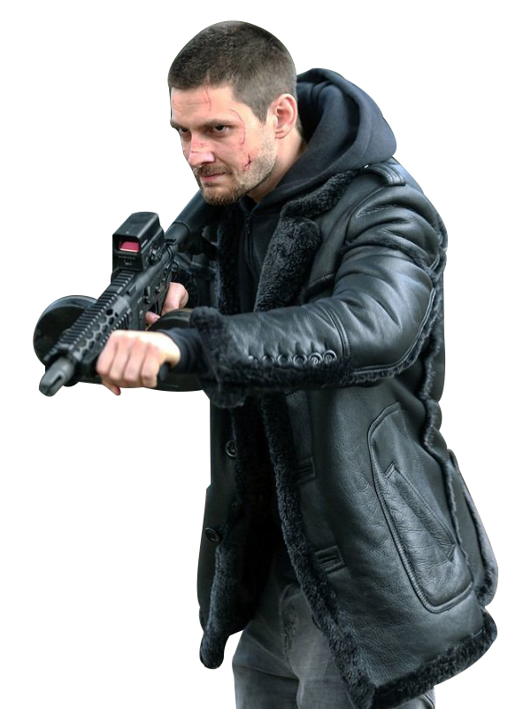 Ben Barnes The Punisher B3 Bomber Leather Jacket