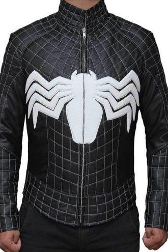 Venom Tom Hardy Eddie Brock Leather Costume Jacket