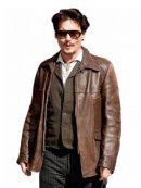 Johnny Depp Distressed Brown Jacket