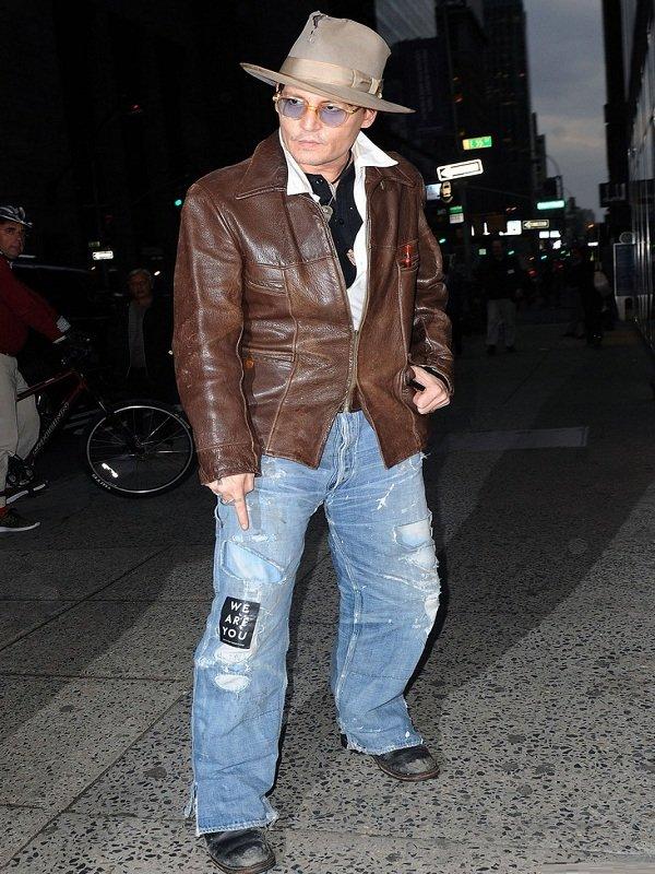 Johnny Depp Brown Leather Jacket