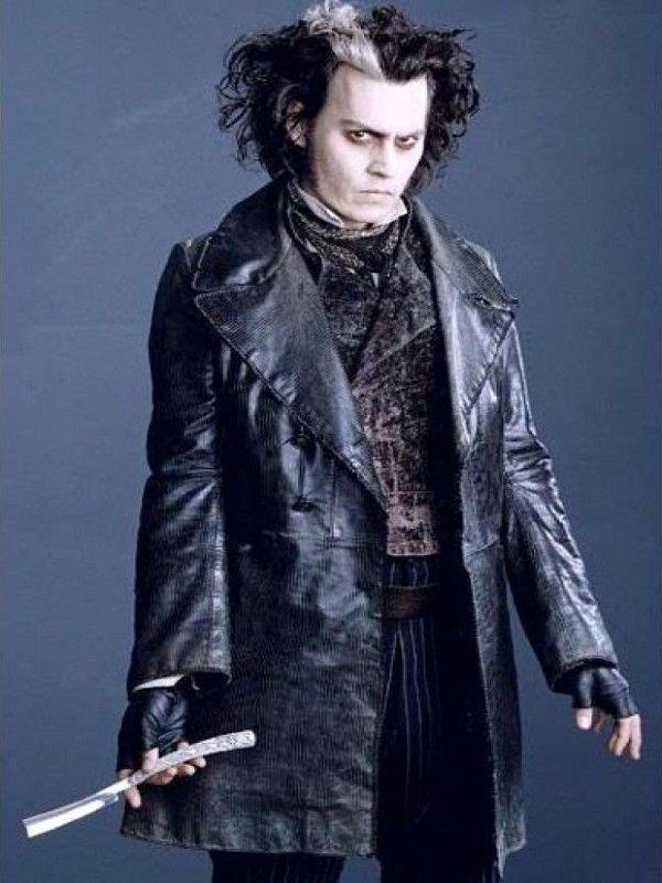 Johnny Depp Sweeney Todd Black Coat