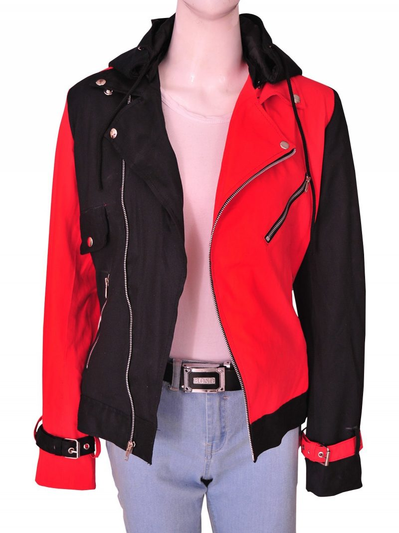 Suicide Squad Harley Quinn Cotton Women's Removable Hoodie Costume Jacket