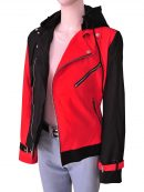 Suicide Squad Harley Quinn Cotton Women's Removable Hoodie Jacket