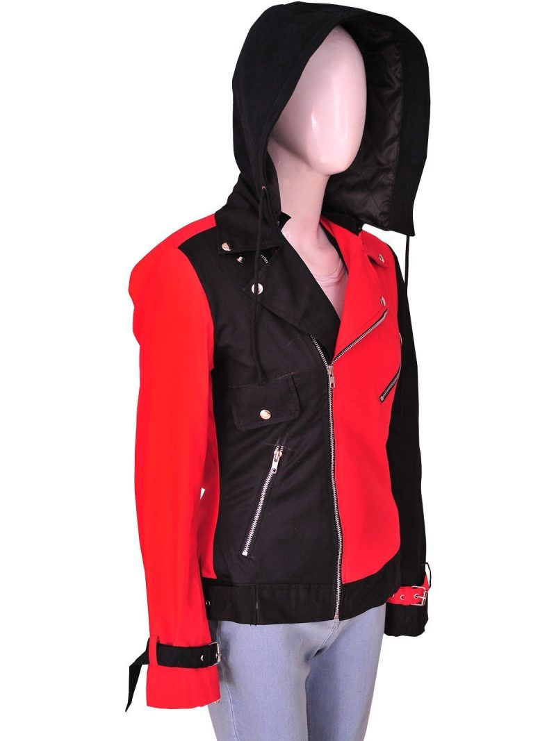 Suicide Squad Harley Quinn Cotton Removable Hoodie Jacket
