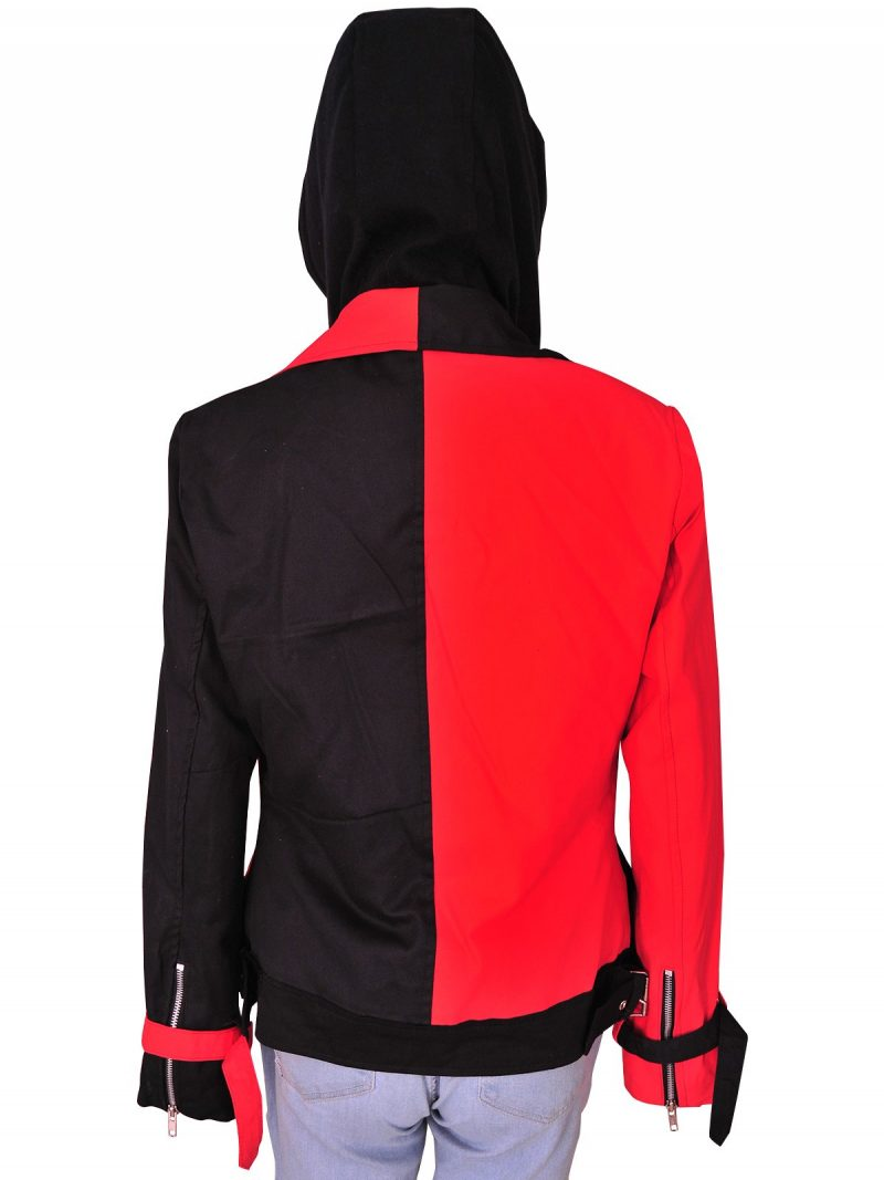 Suicide Squad Harley Quinn Cosplay Hood Jacket For Women