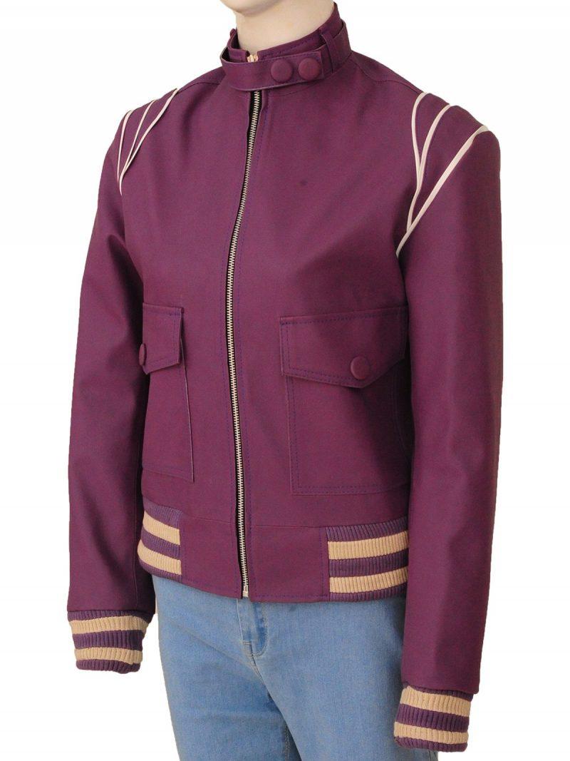 Glow Ruth Wilder Purple Leather Jacket
