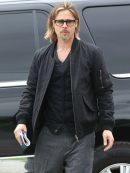 American Actor Brad Pitt Stylish Bomber Jacket