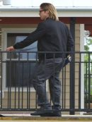 Stylish Brad Pitt Bomber Black Jacket