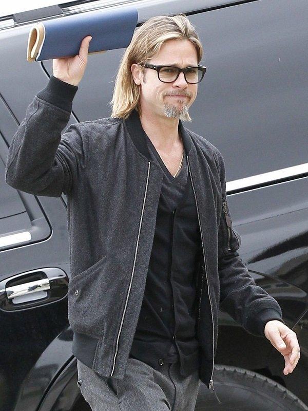 Stylish Bomber Brad Pitt Jacket