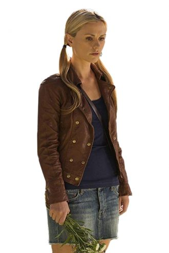 Anna-Paquin-True-Blood-Brown-Leather-Jacket