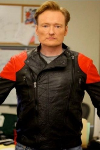 Conan O'Brien Motorcycle Leather Jacket