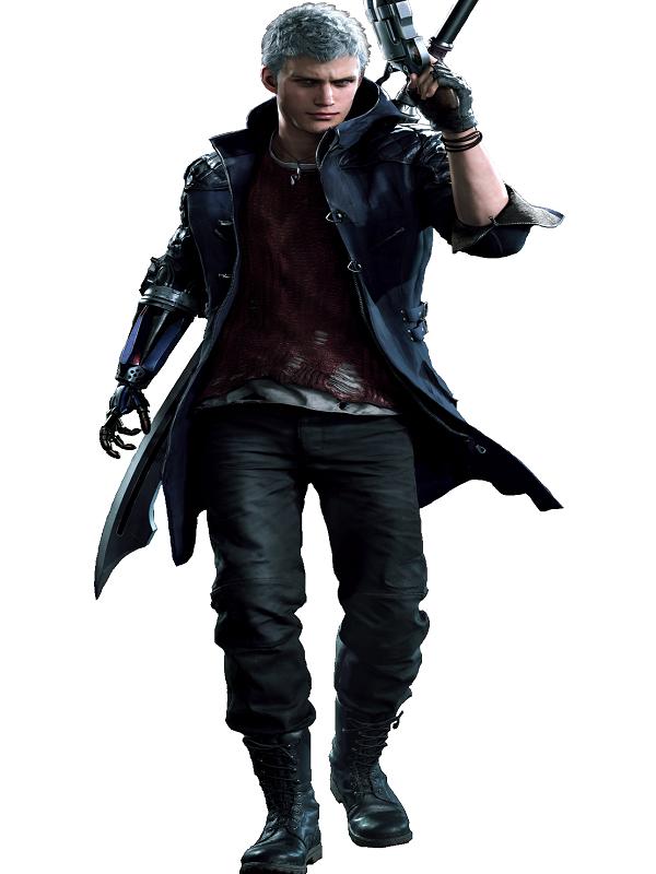Capcom Devil May Cry 5 Nero Cosplay Costume Coat