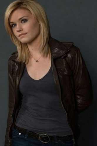 Haven Lexie DeWitt Brown Leather Jacket