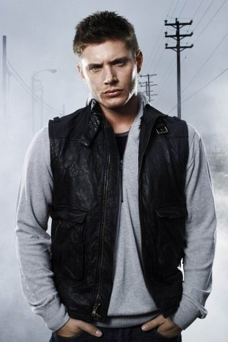 Supernatural Dean Winchester Black Leather Vest
