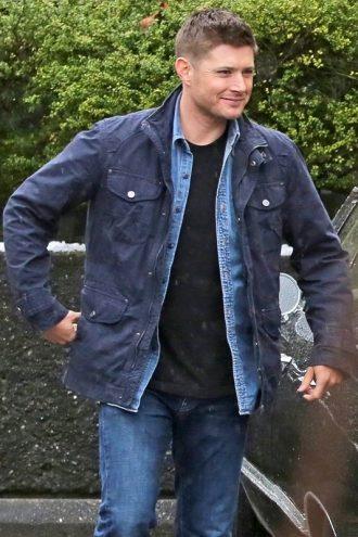 Supernatural Jensen Ackles Blue Jacket