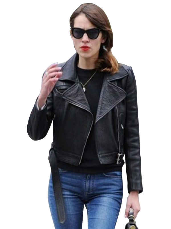 Alexa-Chung-Black-Leather-Jacket