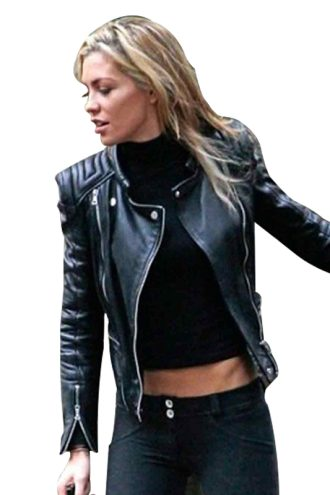 Clancy Black Biker Leather Jacket