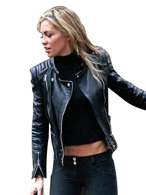 Clancy Black Biker Leather Jacket