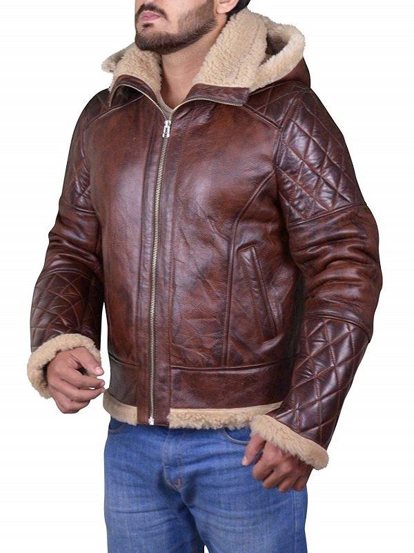 Diamond Quilted Men's B3 Bomber Vintage Jacket