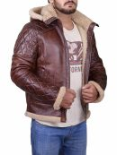 Men's B3 Bomber Diamond Quilted Leather Jacket