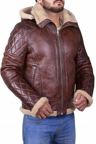 Men's B3 Bomber Diamond Quilted Brown Jacket