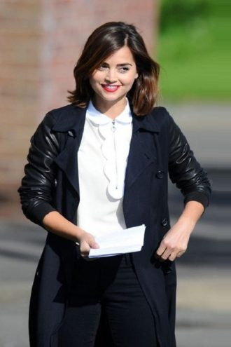 Doctor Who Season 9 Clara Oswald Double Breasted Coat
