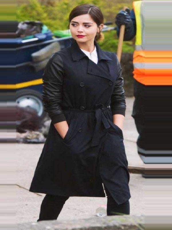Clara Oswald Double Breasted Stylish Black Coat