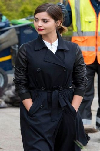 Clara Oswald Doctor Who Season 9 Black Coat