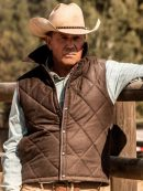 Kevin Costner Yellowstone Quilted Vest