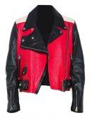 Demi Lovato Moto Biker Leather Jacket