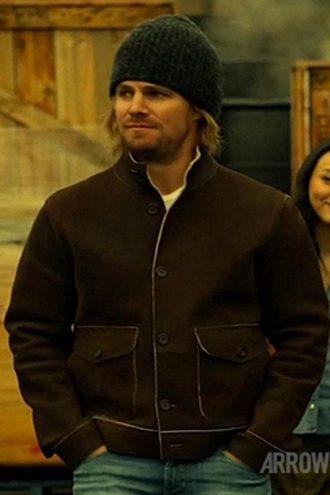 TV Series Arrow Oliver Queen Suede Leather Jacket