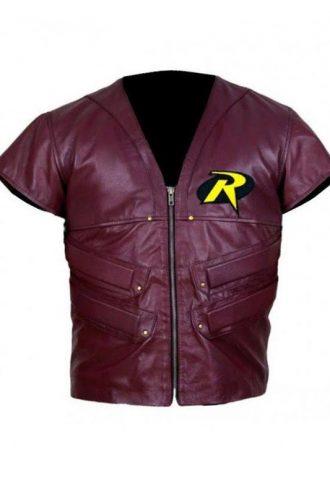 Superhero Robin Cosplay Leather Vest