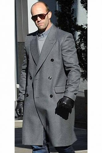 English Actor Jason Statham Double Breasted Coat