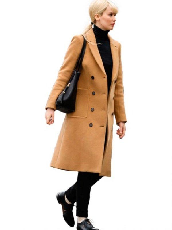 Jennifer Lawrence Dominika Egorova Red Sparrow Coat